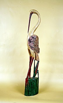 Цапля. Декор 'батик'. 100 см.