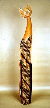 Кошка. Декор 'батик'. 150 см.