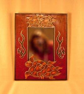 Зеркало `Черепахи`. 35х45х1 см.